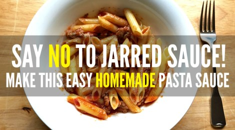 Say No to Jarred Sauce! Make this Easy Homemade Pasta Sauce