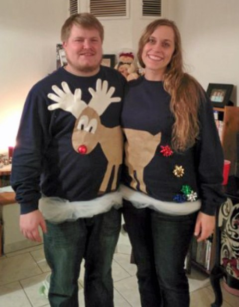 Reindeer Couples Ugly Sweater