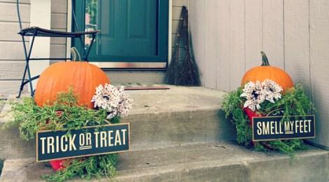 DIY Easy Halloween Front Porch Decor