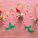 DIY Photo Elf Pine Cone Ornament