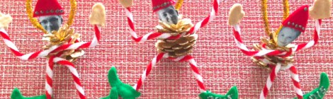 DIY Photo Elf Pine Cone Ornament