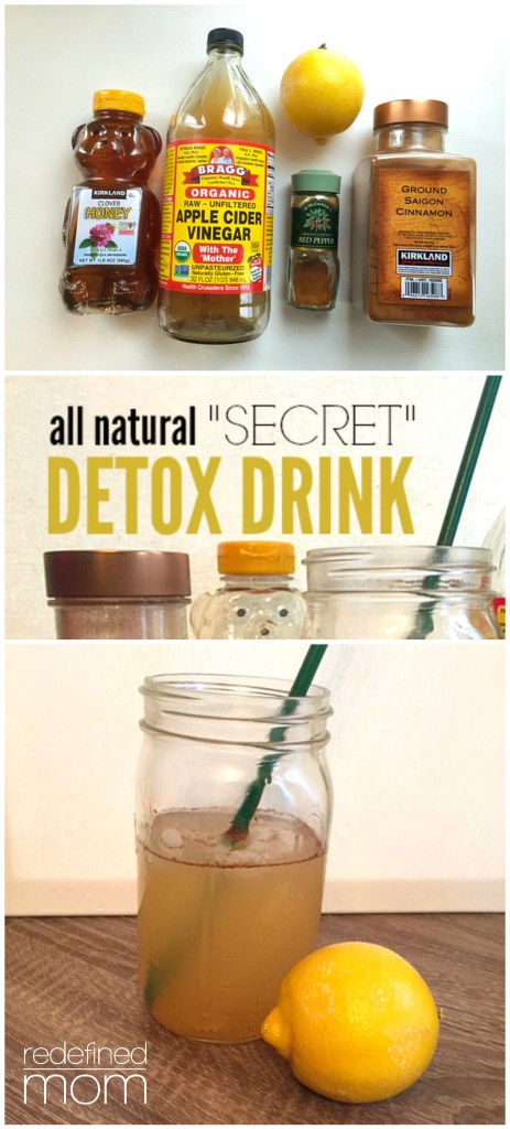 All Natural Secret Detox Drink Collage