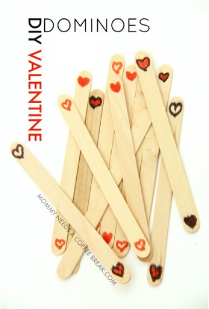 DIY Valentine Dominoes
