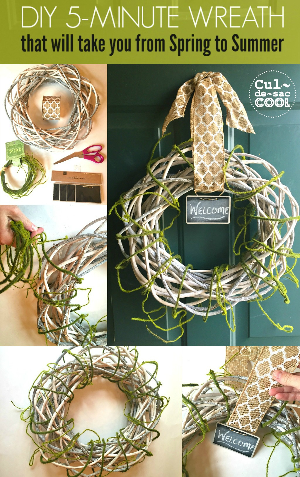 DIY 5 minute wreath Collage