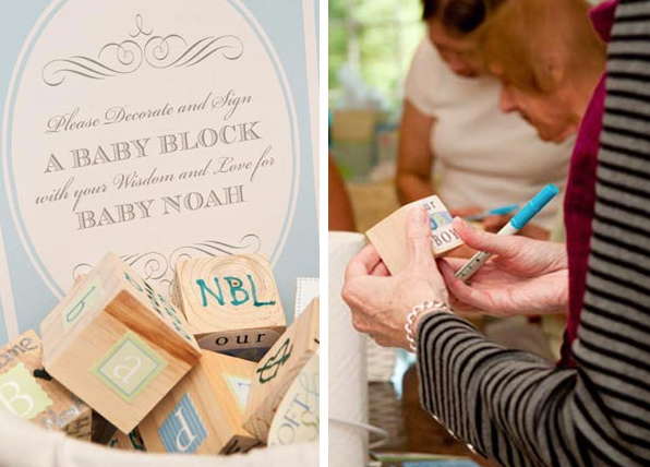 Decorate a Wood Block Baby Shower Activity