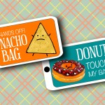 DIY Printable Junk Food Luggage Tags