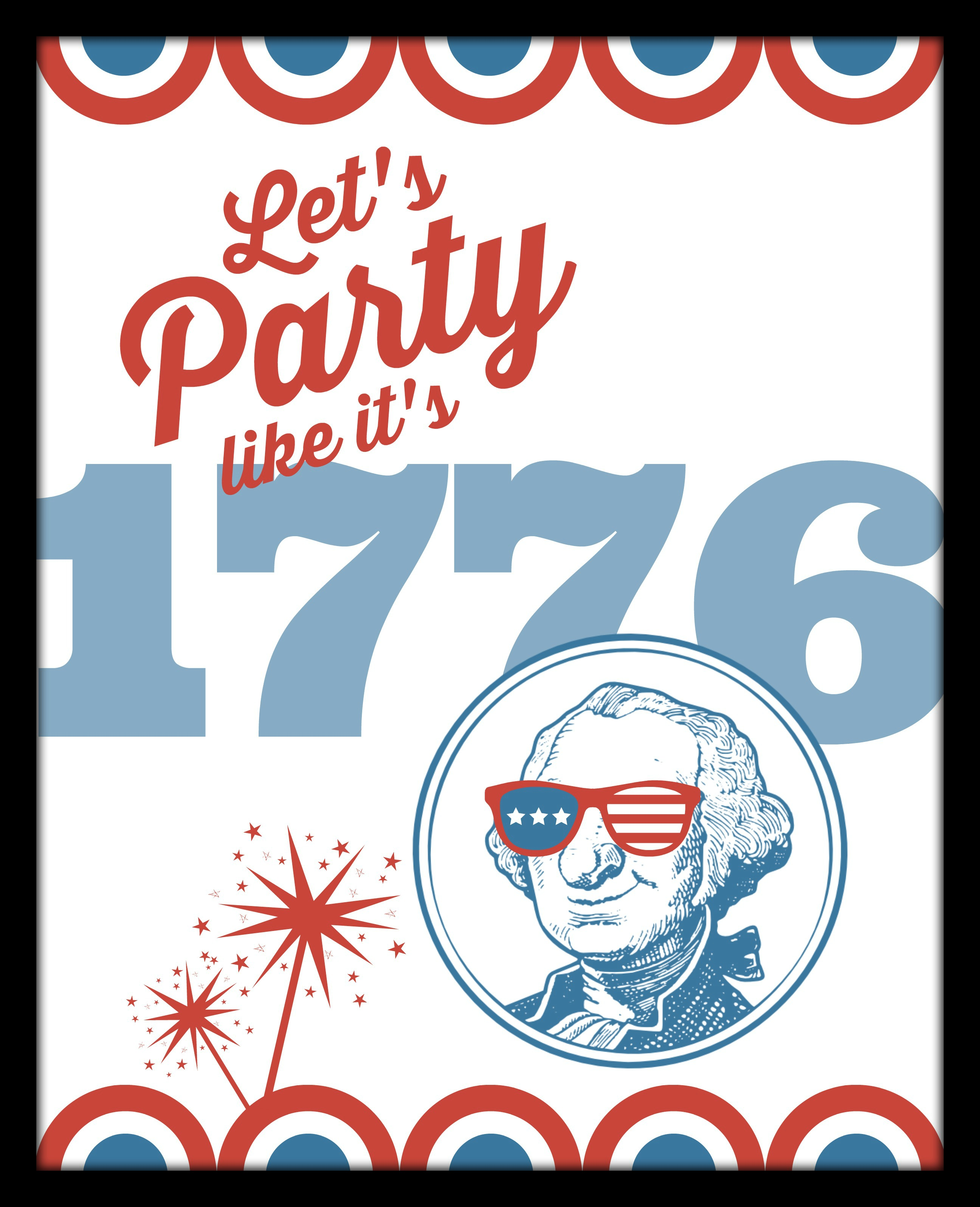 DIY Printable Lets Party Like its 1776 frame