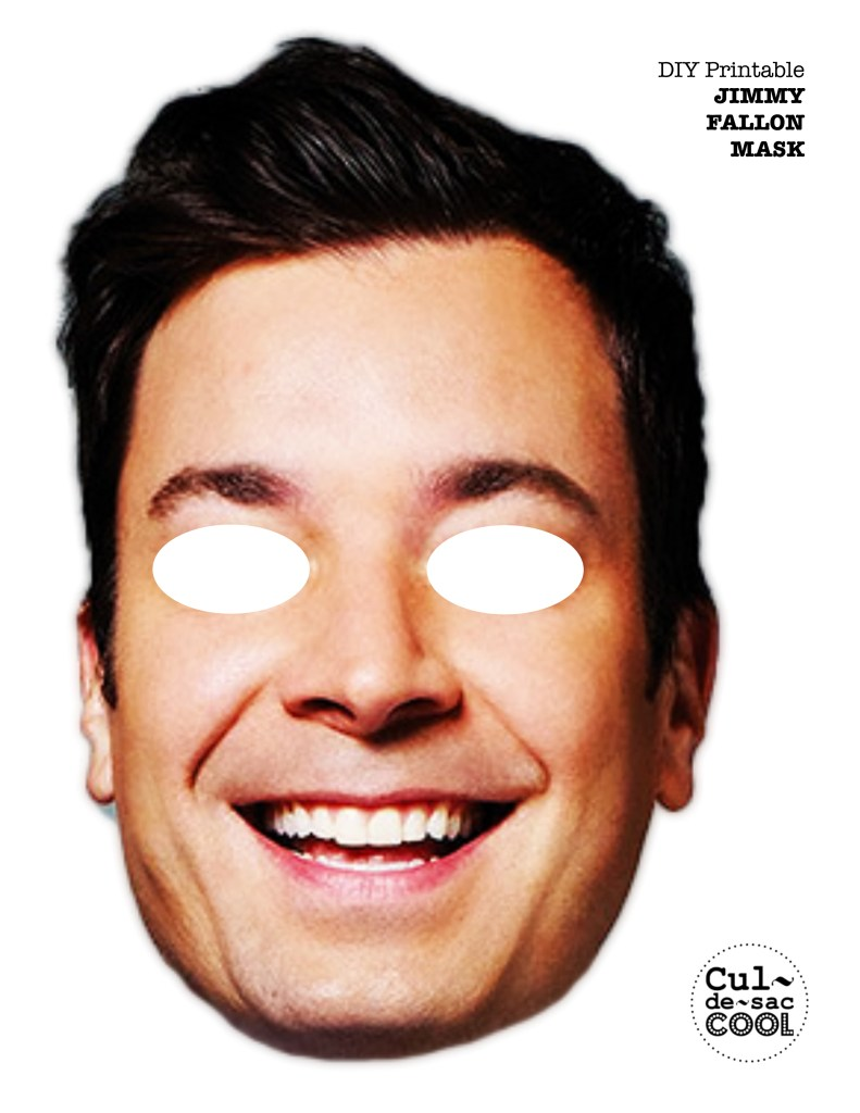 DIY Printable Jimmy Fallon Mask