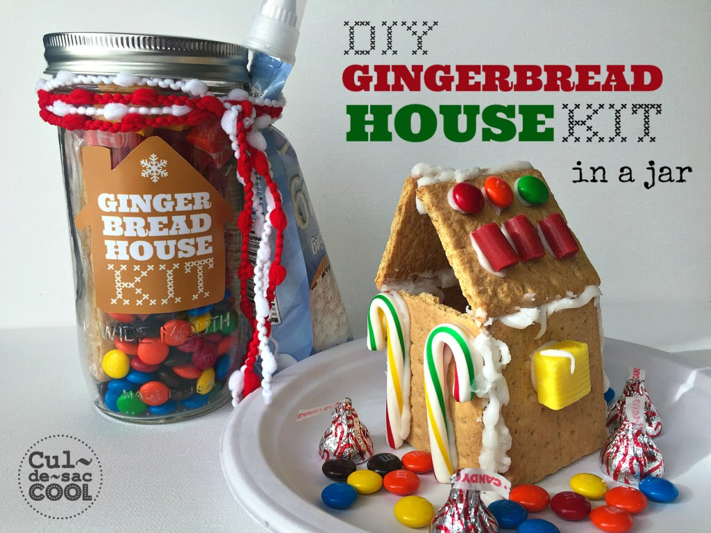 Diy gingerbread house kit in a jar hey are you new around here welcome to my block you may want to subscribe to cul de sac cool via email or rss feed or follow me on pinterest instagram solutioingenieria Image collections