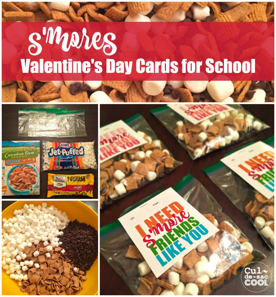 Smores Valentines Day Cards for School
