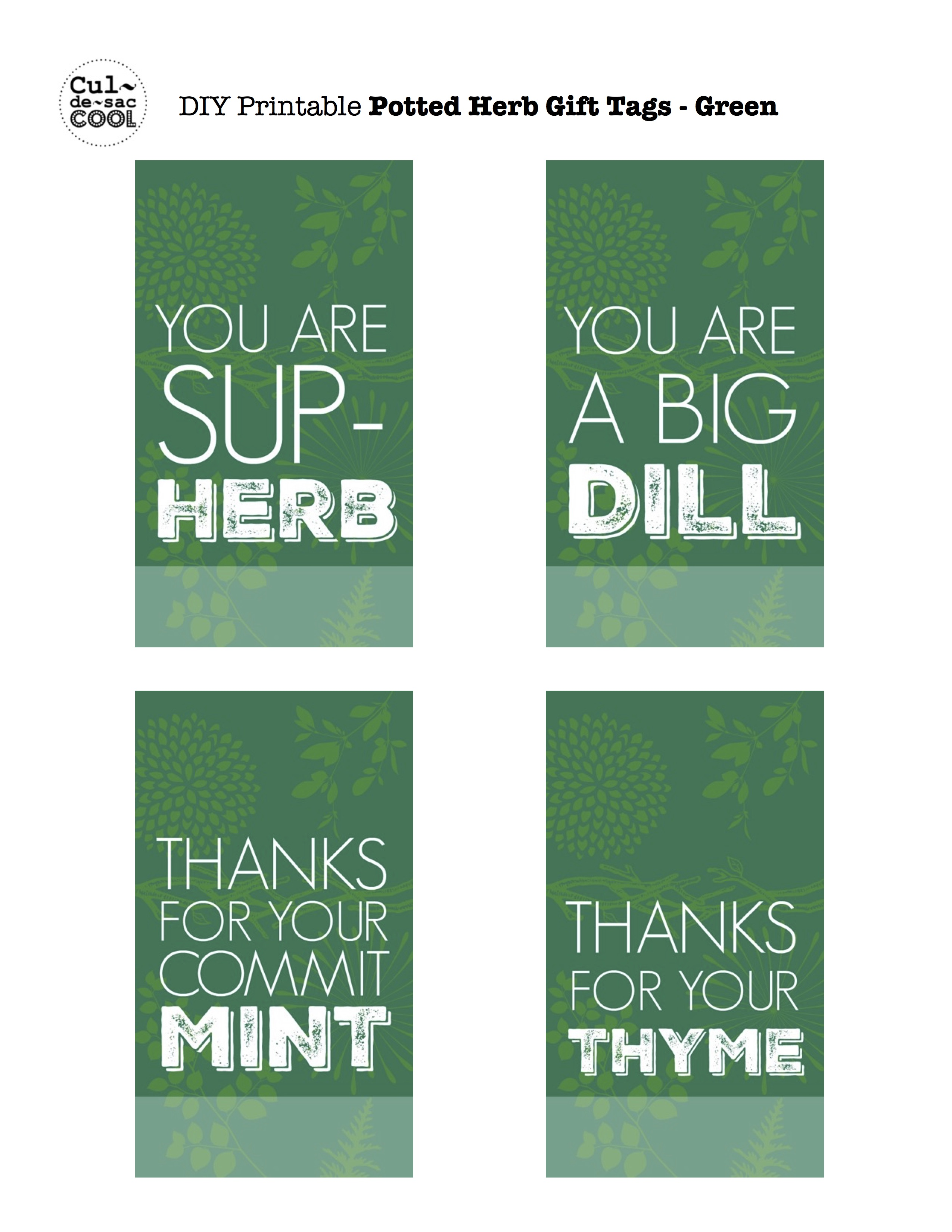 photograph about Thank You for Your Commit Mint Printable identified as Do-it-yourself Potted Herb Reward Great for Moms Working day or Instructor