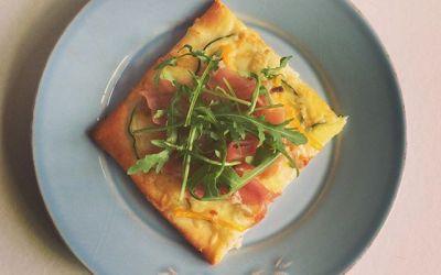Pizza bianca met aardappel
