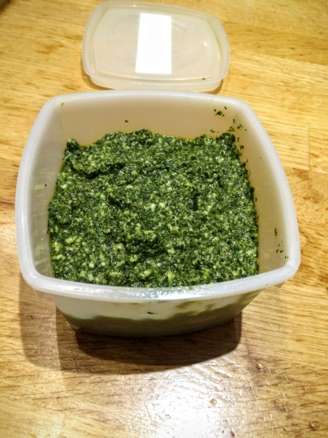 Pesto klaar