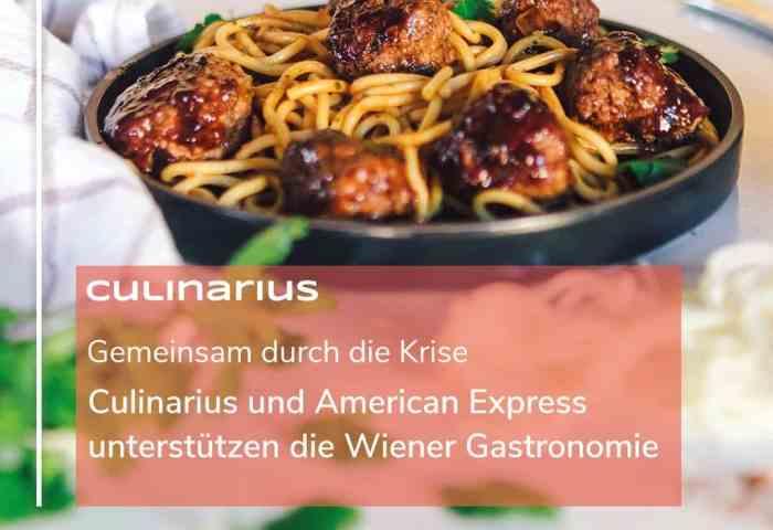 Gemeinsam durch die Krise mit Culinarius & American Express