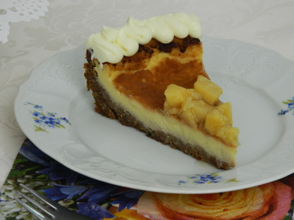 Pecan and Quince Cheesecake with Cream Cheese Frosting