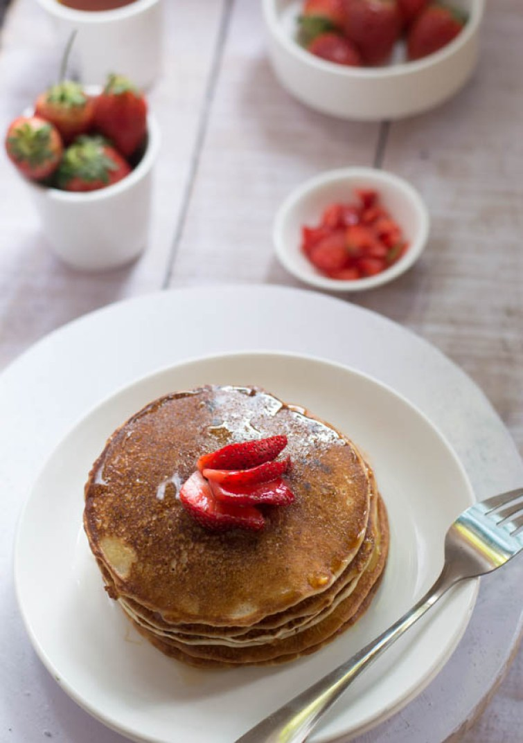 Eggless strawberry pancakes recipe culinaryxpress while most pancake recipes do call for eggs it is possible to make delicious pancakes without them also this is an easy to make recipe with goodness of ccuart Choice Image