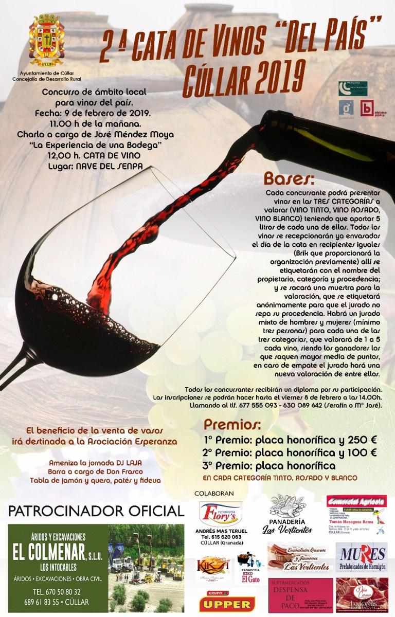 II Cata de vinos del pais. Cúllar 2019.