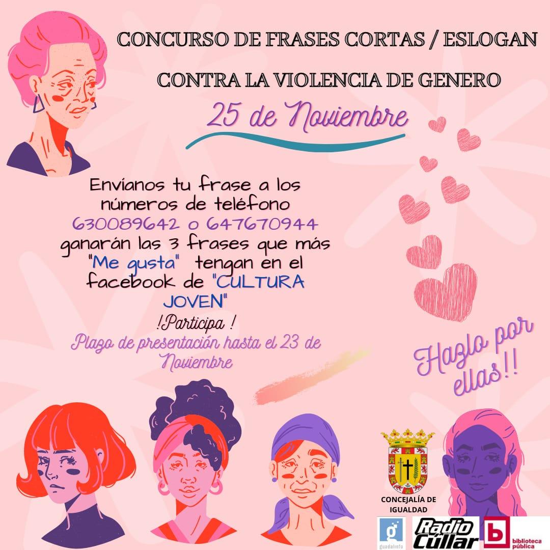 I Concurso De Frases Cortas Eslogan Contra La Violencia De Género Ayuntamiento De Cúllar