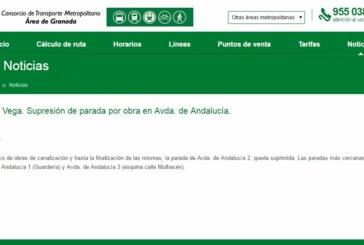 Suspensión Parada Bus en Avda Andalucía por Obras