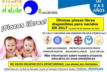 Últimas Plazas Libres (0-1 años) Escuela Infantil El Aljibe
