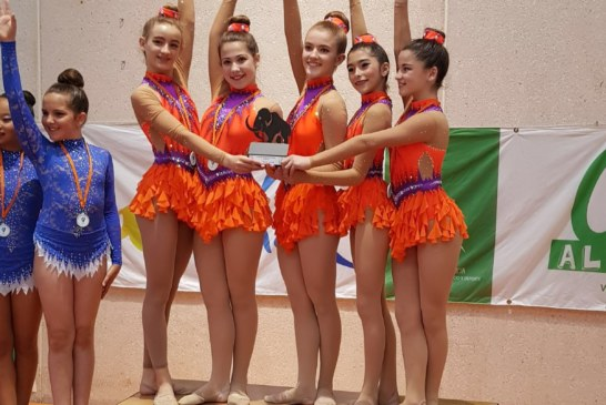 El club de gimnasia rítmica de Cúllar Vega despunta a nivel andaluz