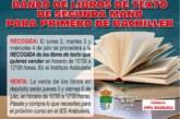 Banco de Libros de Texto de segunda mano para 1º de Bachiller