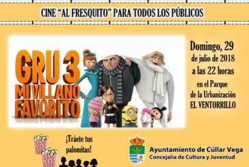 "¡Cine al fresquito! Película ""Gru 3 Mi Villano Favorito"""