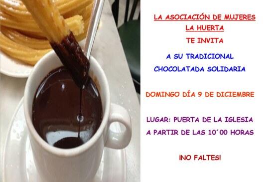 Chocolatada solidaria de la Asociación de Mujeres La Huerta
