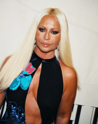 Donatella's infamous tan.