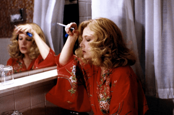 Rowlands in Cassavetes' 1980 film, Gloria, for which she received an Academy Award nomination