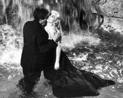 "Anita Ekberg as ""difficult"" actress Sylvia in La Dolce VIta"
