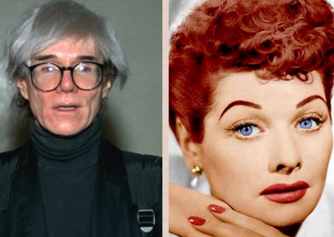 On the Hairstyles of Lucille Ball and Andy Warhol