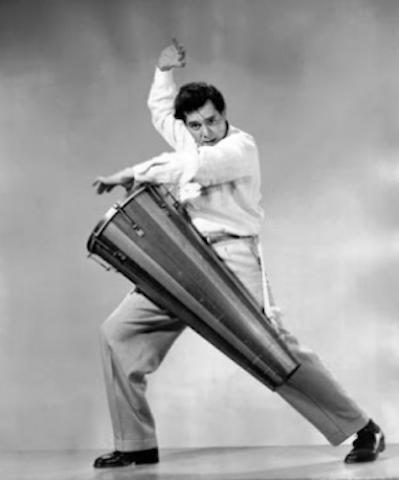 The dashing conga drum player