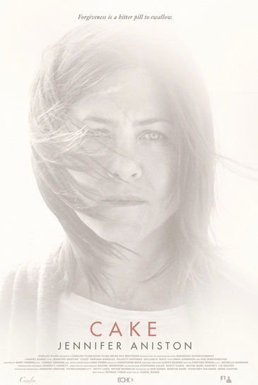 The Cake movie poster is as washed out as Aniston's look