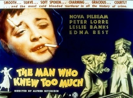 Promo poster for The Man Who Knew Too Much