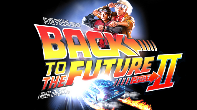 Promotional poster for Back to the Future II