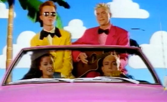 "Barbie's dream car, as imagined in the  video for ""Barbie Girl"""
