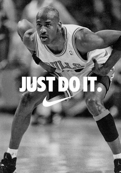 Basketball players were used in Nike's Just Do It ads to further promote the notion of greatness and an active lifestyle