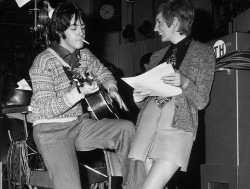 Black with Paul McCartney, a fellow Liverpudlian