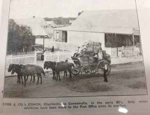 CobbandCoCoach, Cobb and Co Coach Cunnamulla, Passenger Coach Cunnamulla, Cunnamulla History, Cobb and Co Cunnamulla History, Cobb & Co Mail Coach
