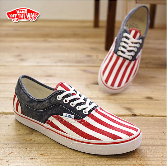 Vans Washed LPE CA (Red/White/Blue)