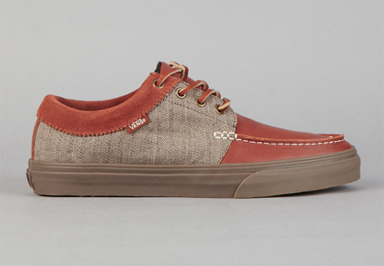 Vans 106 Moc CA (Leather / Herringbone) Sequoia