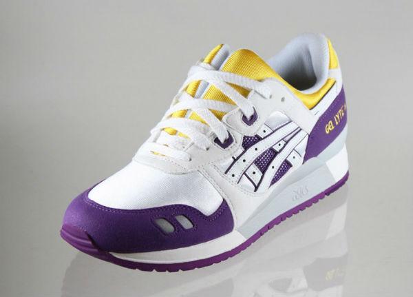 asics gel lyte iii purple/yellow/white