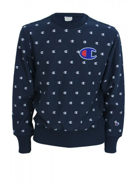 Champion Multi C Logo Sweat - Navy