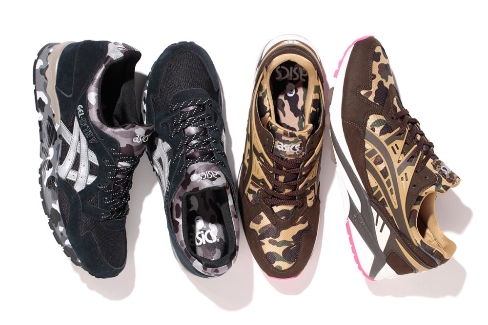 bape asics tiger sneaker pack