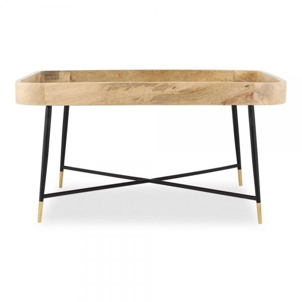 moreno square coffee table natural wood
