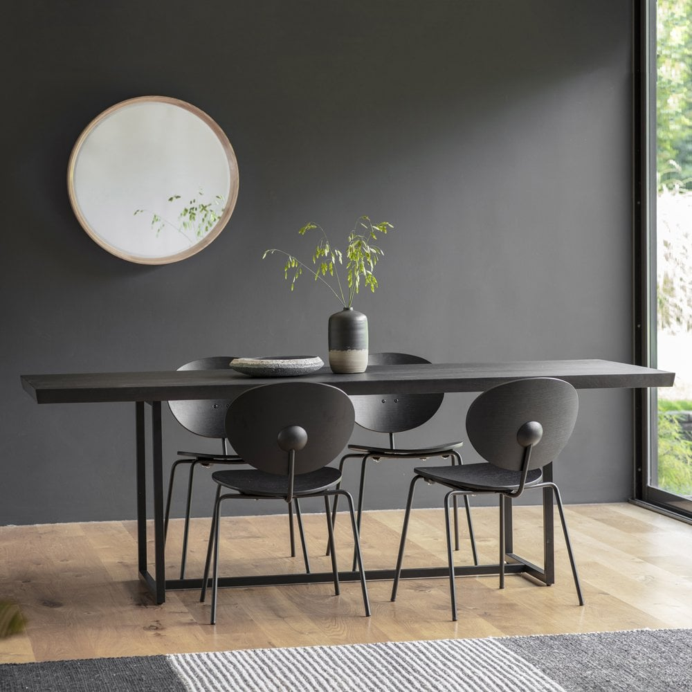 Black Novato Rectangle Dining Table 200cm Modern Dining Tables