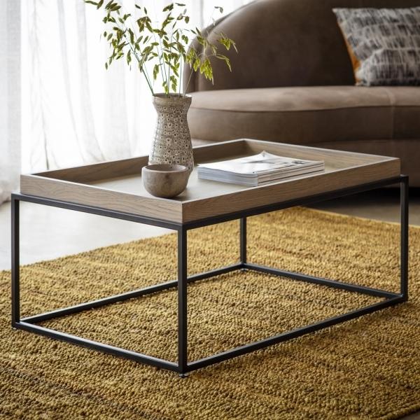 novato tray coffee table grey
