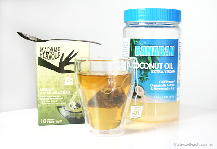 coconut oil green tea