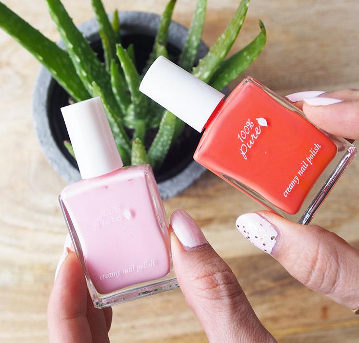 100-percent-pure nail polish first love tiggermelon
